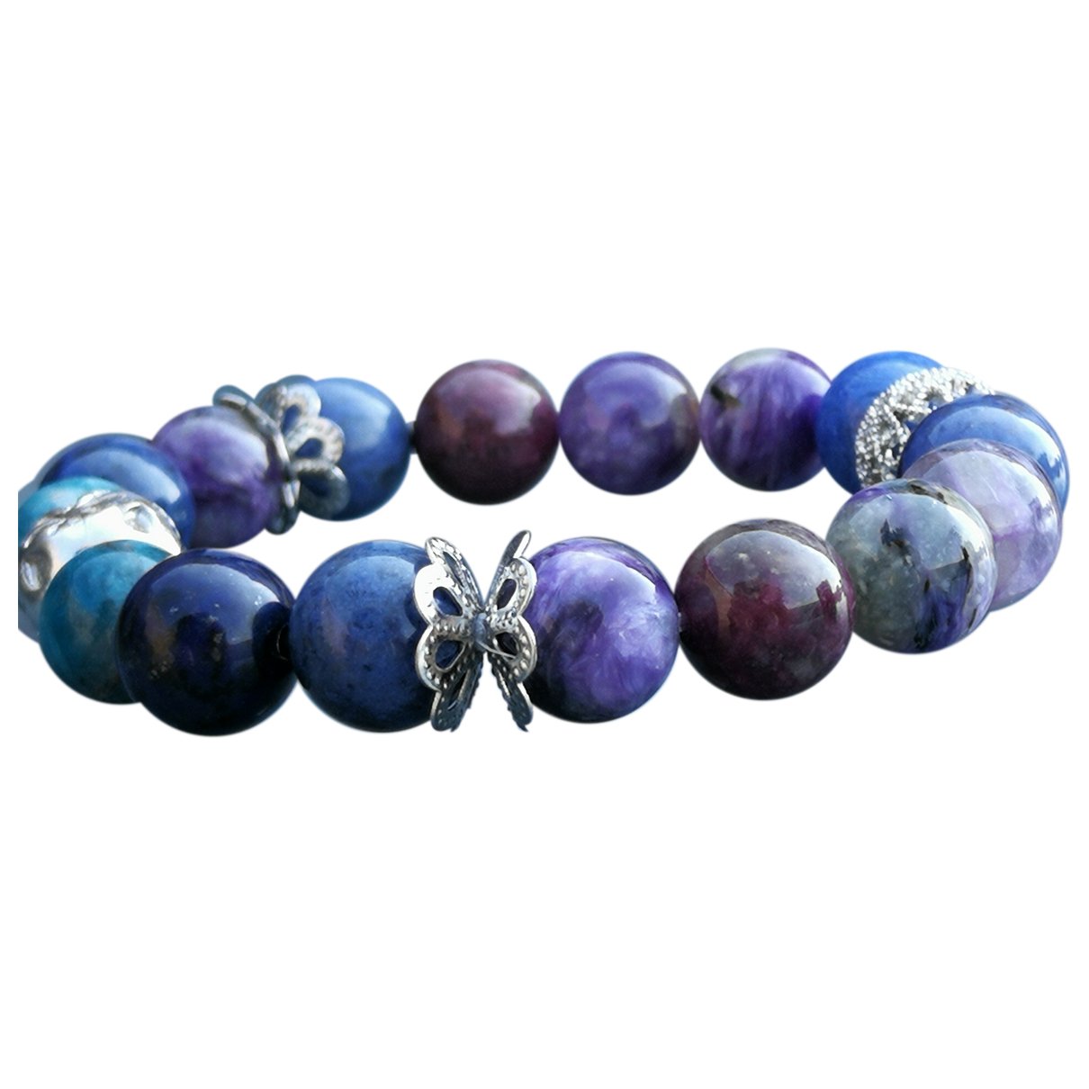 Non Signe / Unsigned \N Armband in  Bunt Perlen