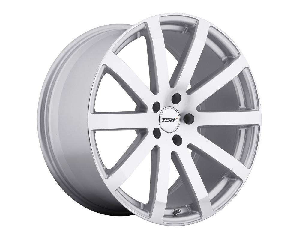 TSW Brooklands Wheel 20x10 5x120 25mm Silver w/ Mirror Cut Face