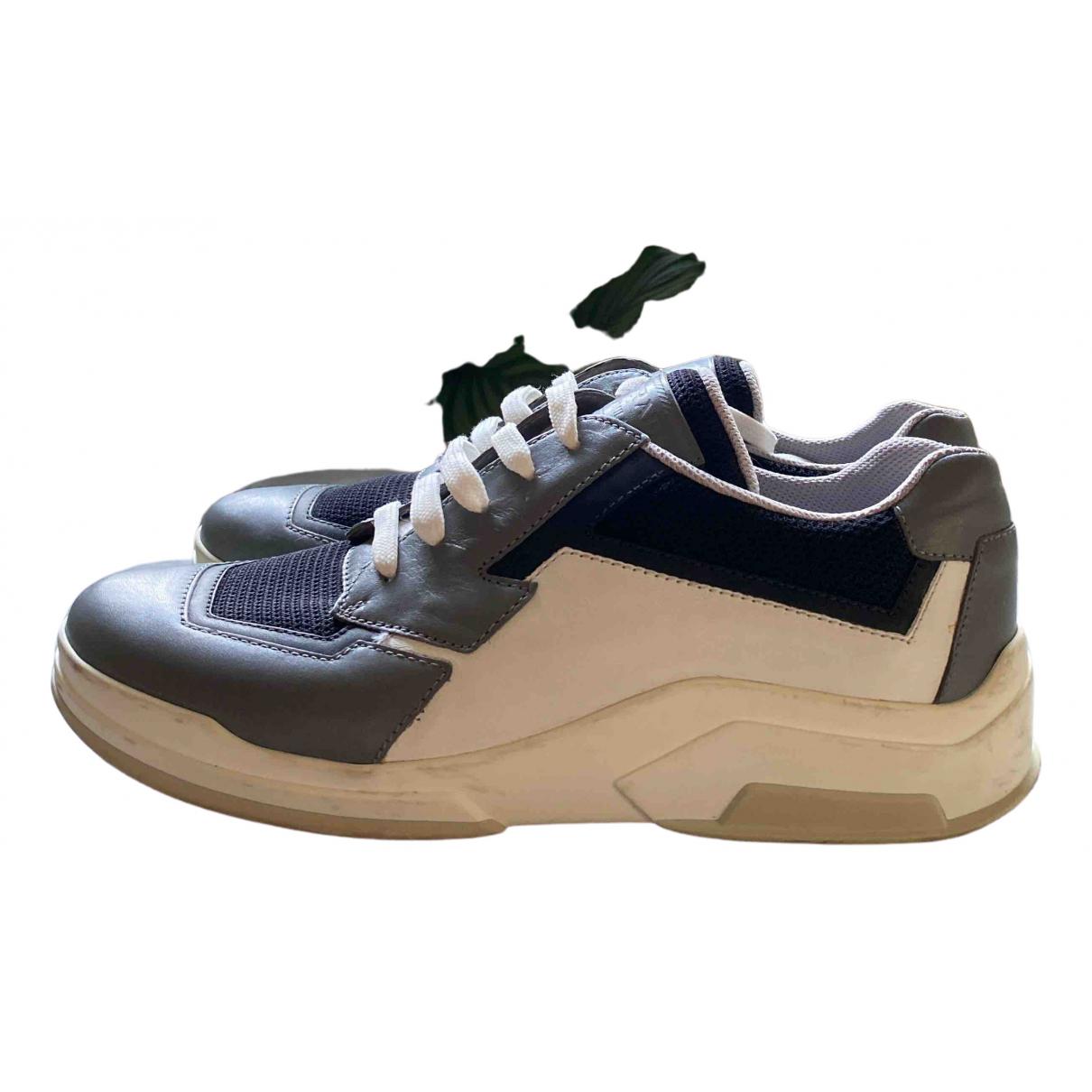 Prada \N Grey Leather Trainers for Women 41 EU