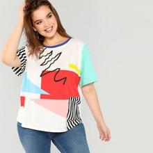 T-Shirt mit Farbblock
