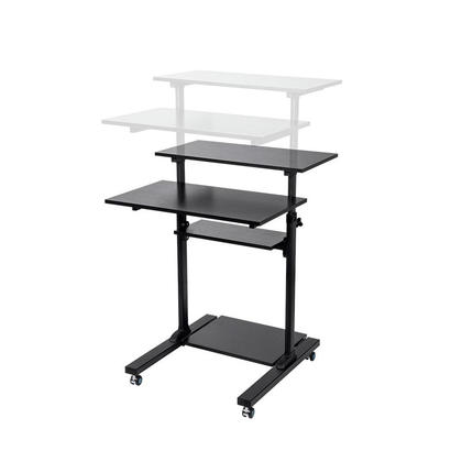 Height Adjustable PC Workstation Cart for Sit-Stand - Monoprice®