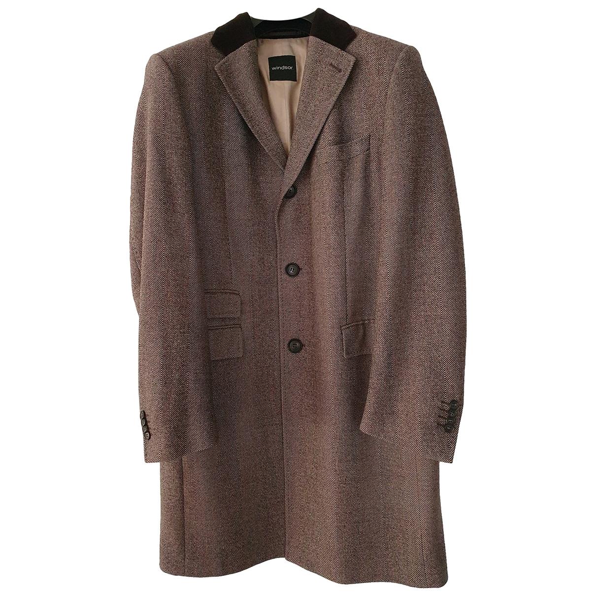 Windsor \N Brown Wool coat  for Men XL International