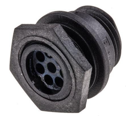 Bulgin Connector, 8 contacts Front Mount Miniature Plug, Crimp, Solder IP68, IP69K