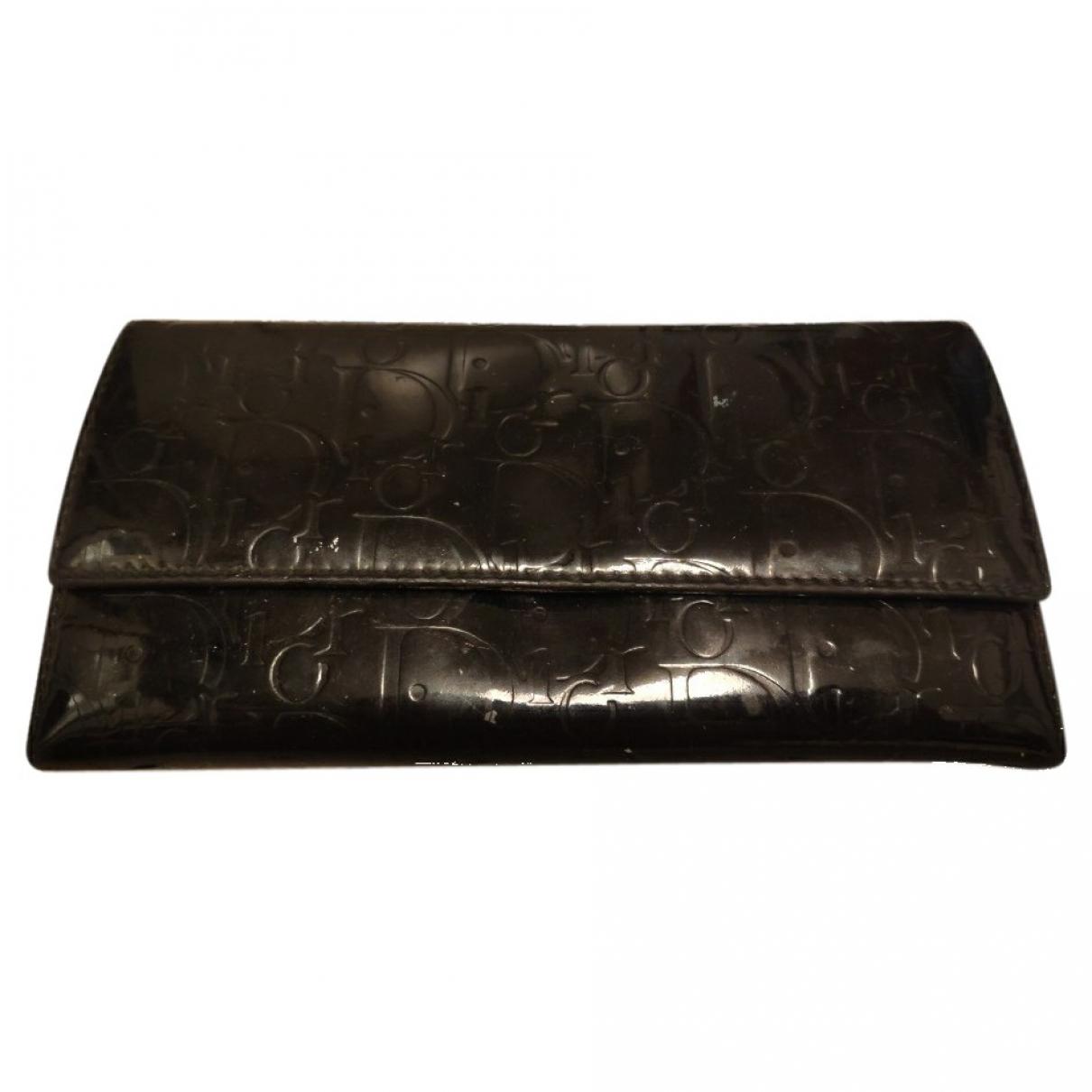 Dior - Portefeuille   pour femme en cuir verni - noir