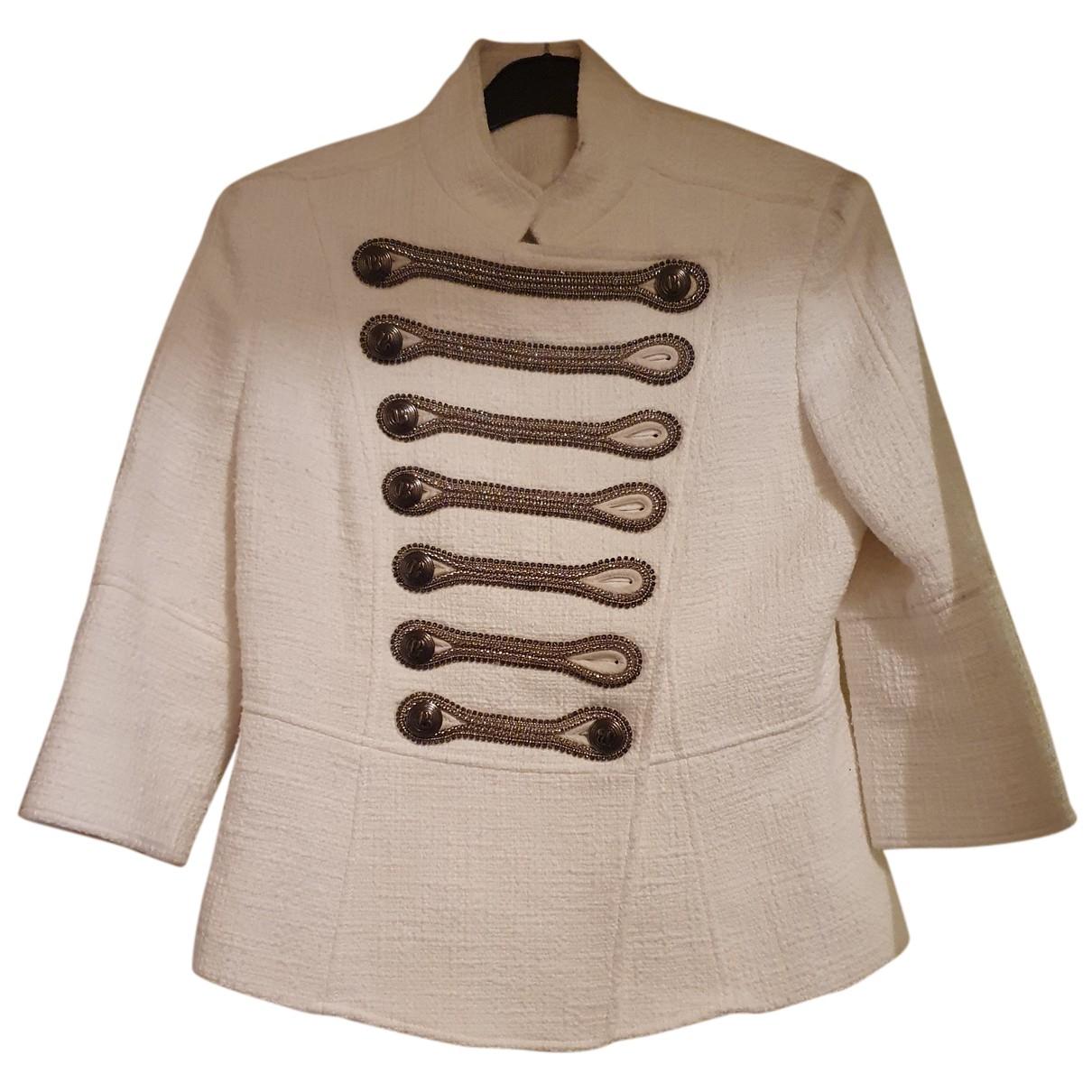 Balmain N Ecru Cotton jacket for Women 42 FR