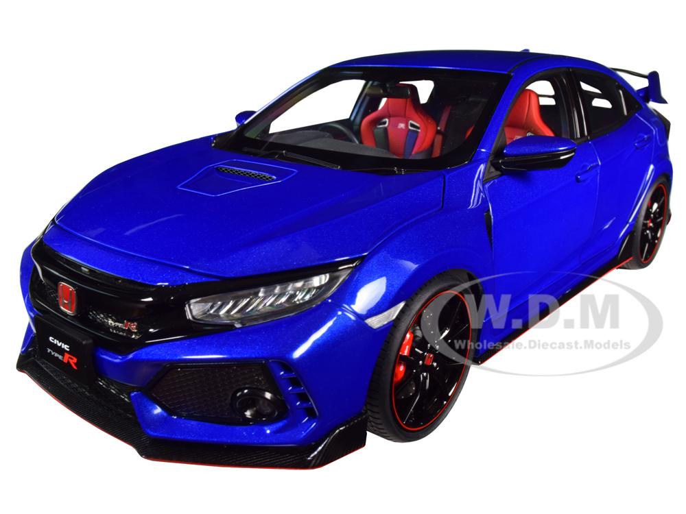 Honda Civic Type R (FK8) Brilliant Sporty Blue Metallic 1/18 Model Car by Autoart