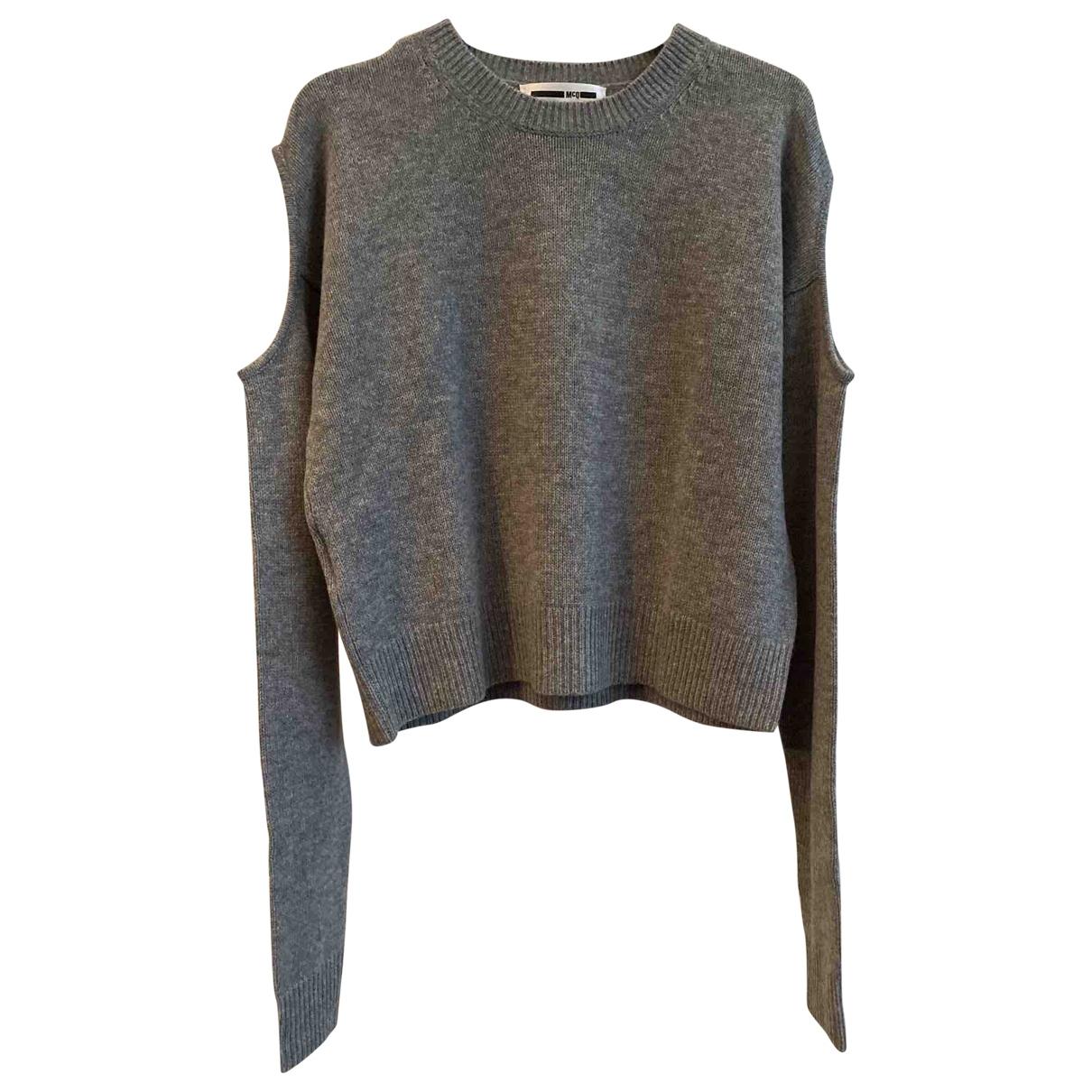 Alexander Mcqueen - Pull   pour femme en laine - gris