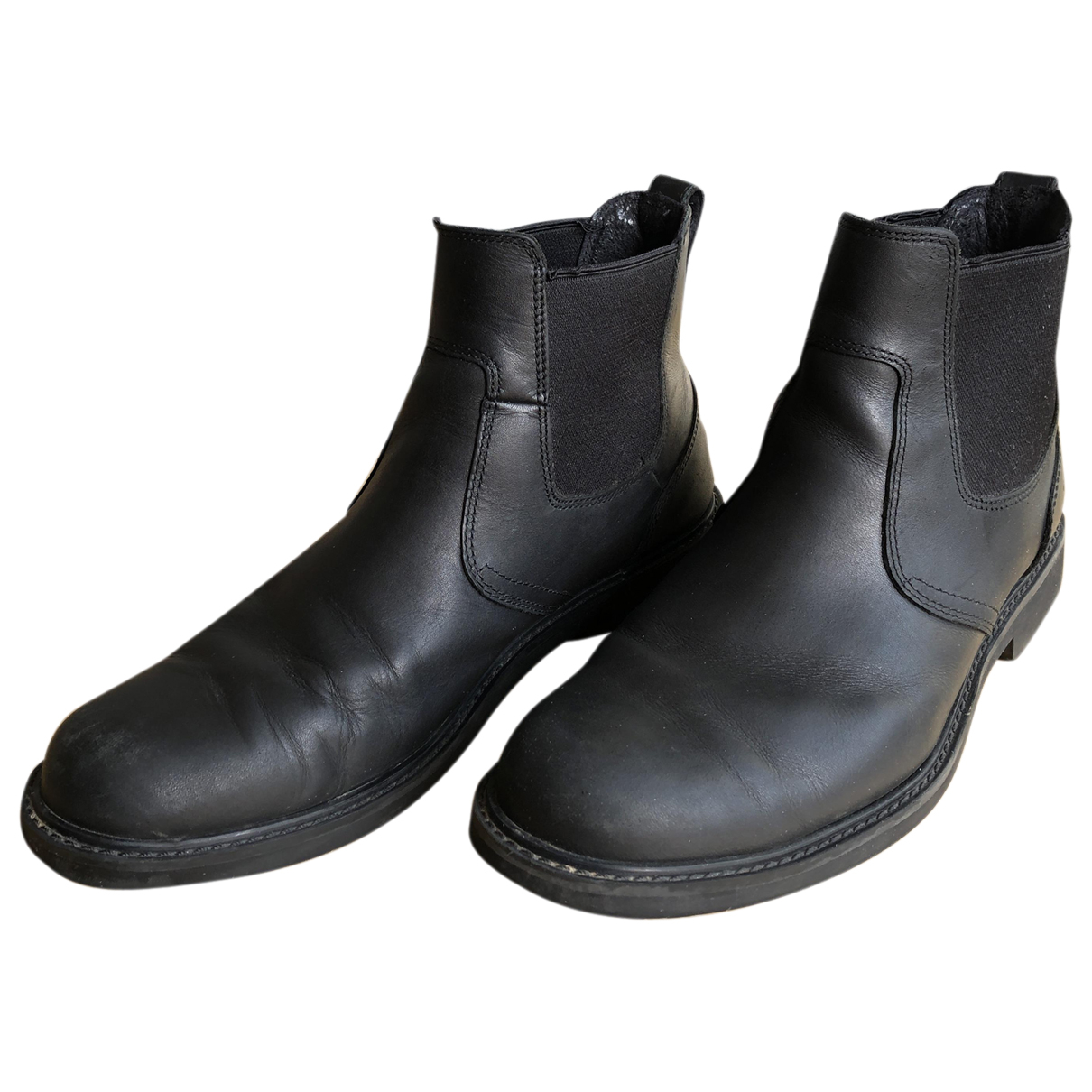 Timberland N Black Leather Boots for Men 40 EU