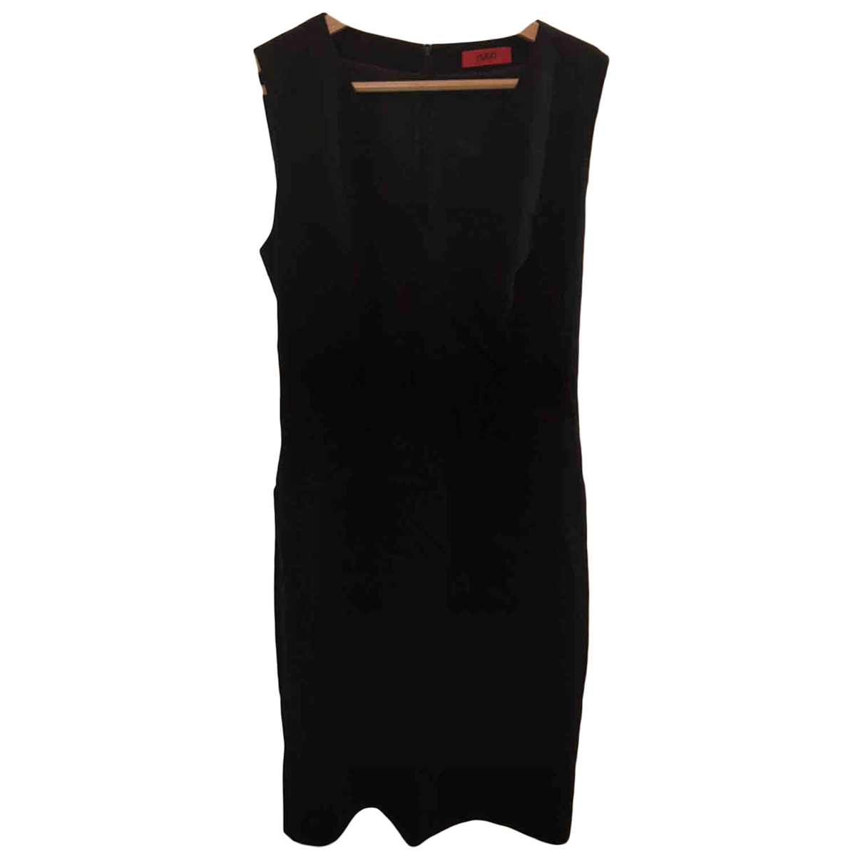 Hugo Boss \N Kleid in  Marine Baumwolle