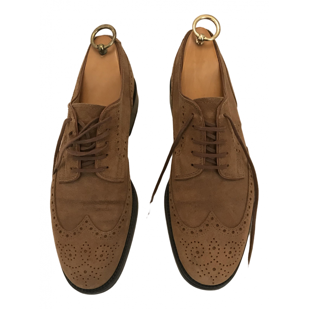 Tod's N Beige Suede Lace ups for Men 7 UK