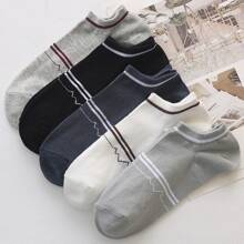 Maenner 5 Paare Socken mit Streifen Muster
