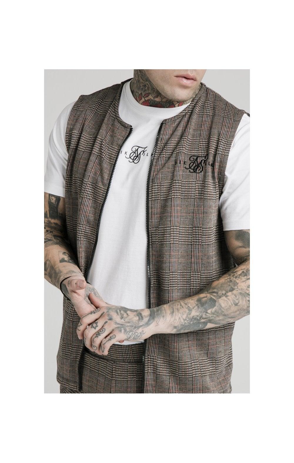 SikSilk Smart Wear Vest - Brown Dogtooth MEN SIZES TOP: Medium
