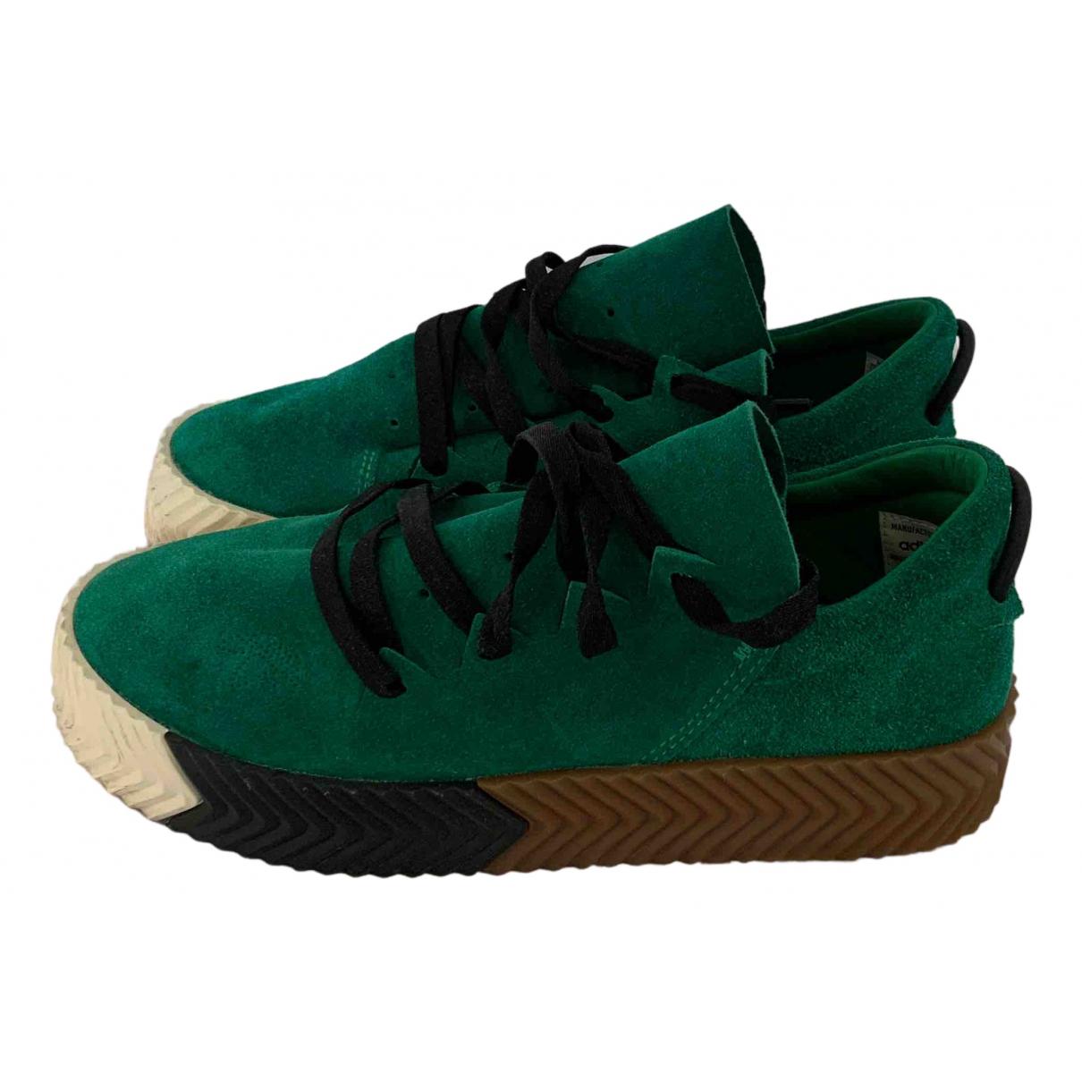Adidas Originals X Alexander Wang - Baskets   pour femme en suede - vert