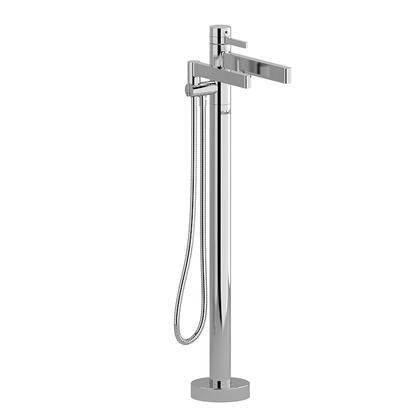 Paradox PX39BG-EX 2-Way Thermostatic Coaxial Floor Mount Tub Filler with Hand Shower  in Brushed