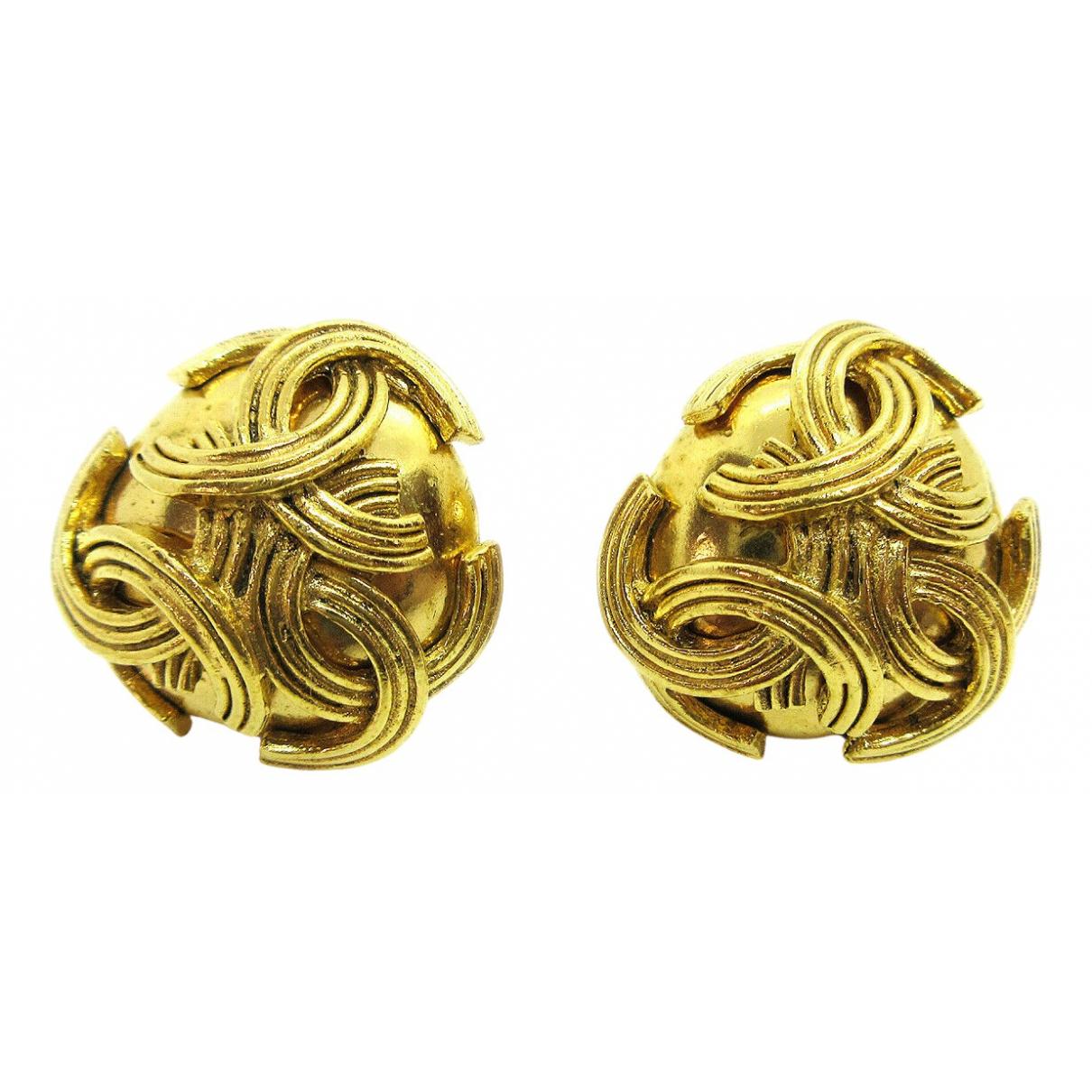 Chanel - Boucles doreilles   pour femme en metal - marron