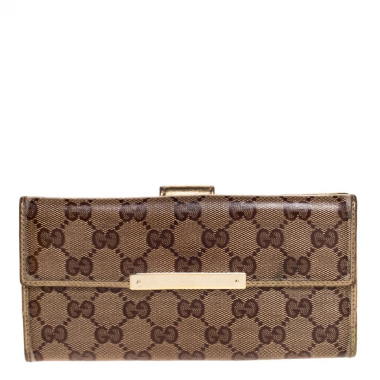 Gucci N Beige Leather wallet for Women N