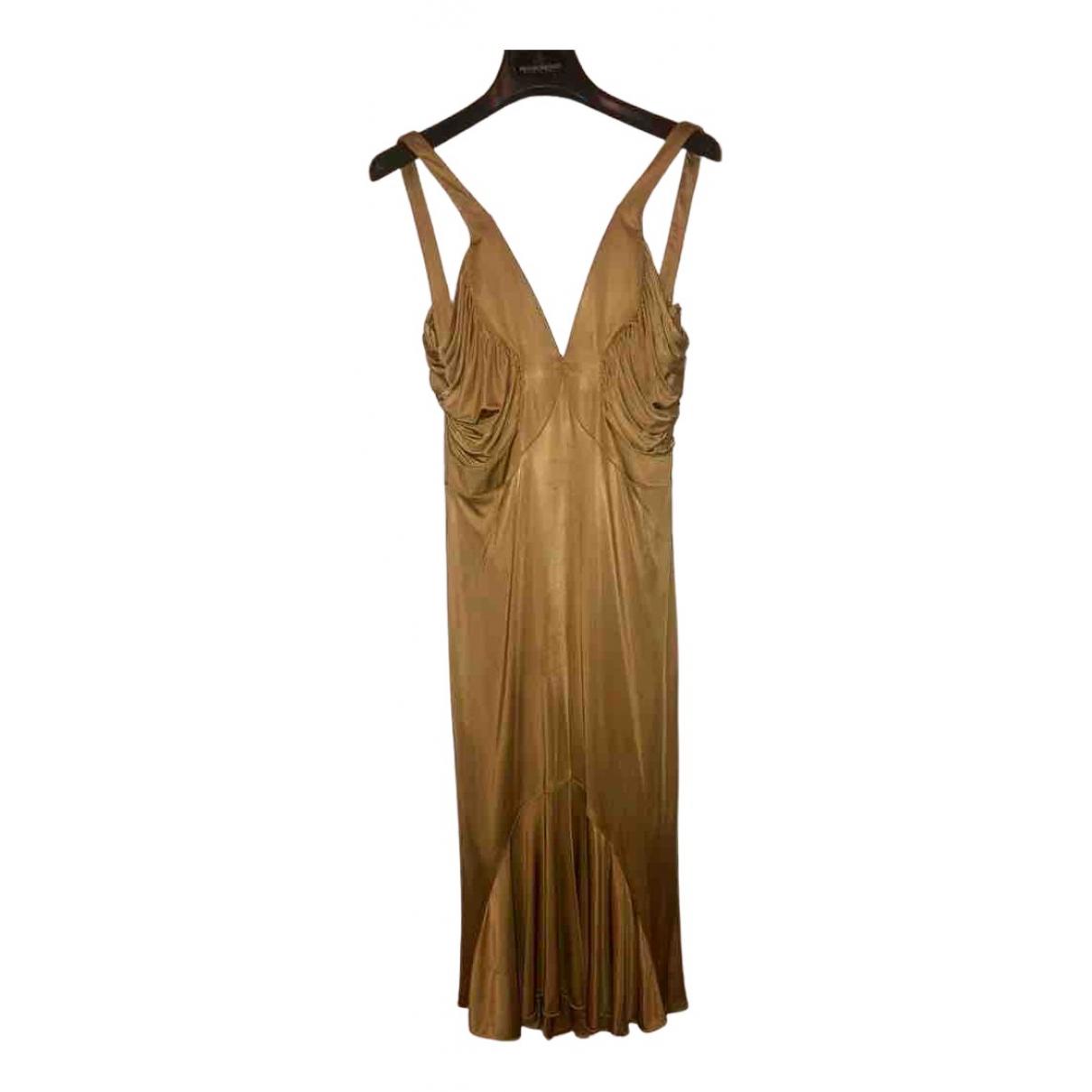 Versace N Gold dress for Women 40 IT