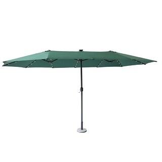 15Ft Large Patio Umbrella Garden Yard Market Sunshade Outdoor (Green)