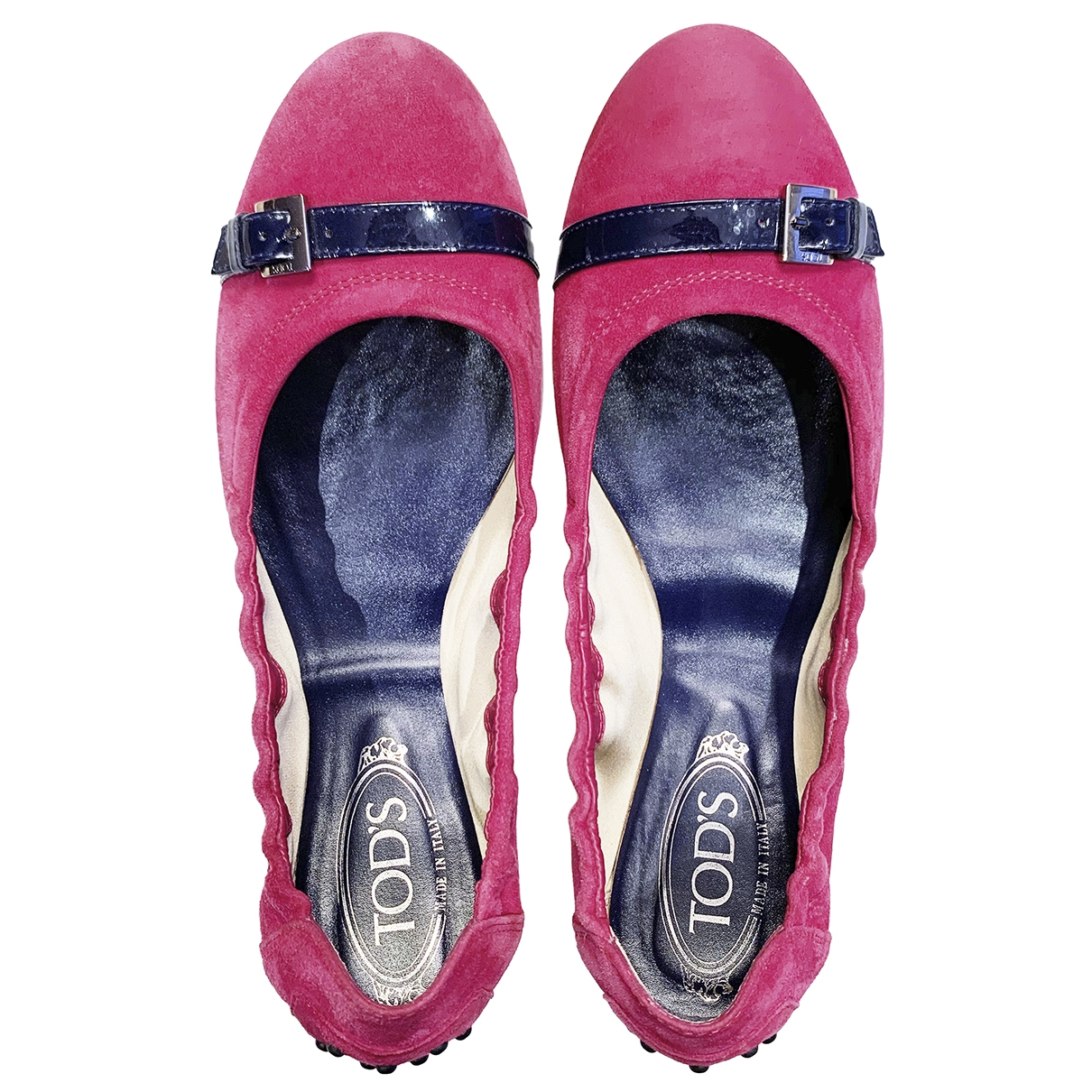 Tod's \N Pink Leather Ballet flats for Women 41 EU