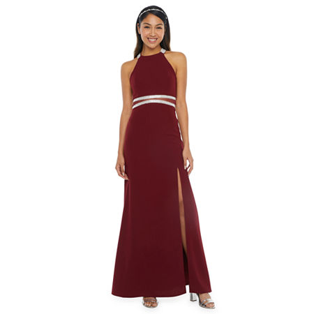 My Michelle Prom Sleeveless Fitted Gown-Juniors, 17 , Red