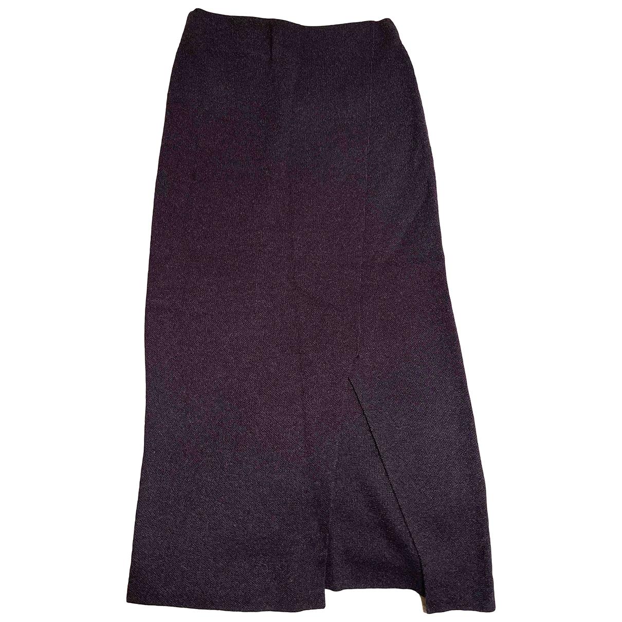 Massimo Dutti - Jupe   pour femme en laine - bleu