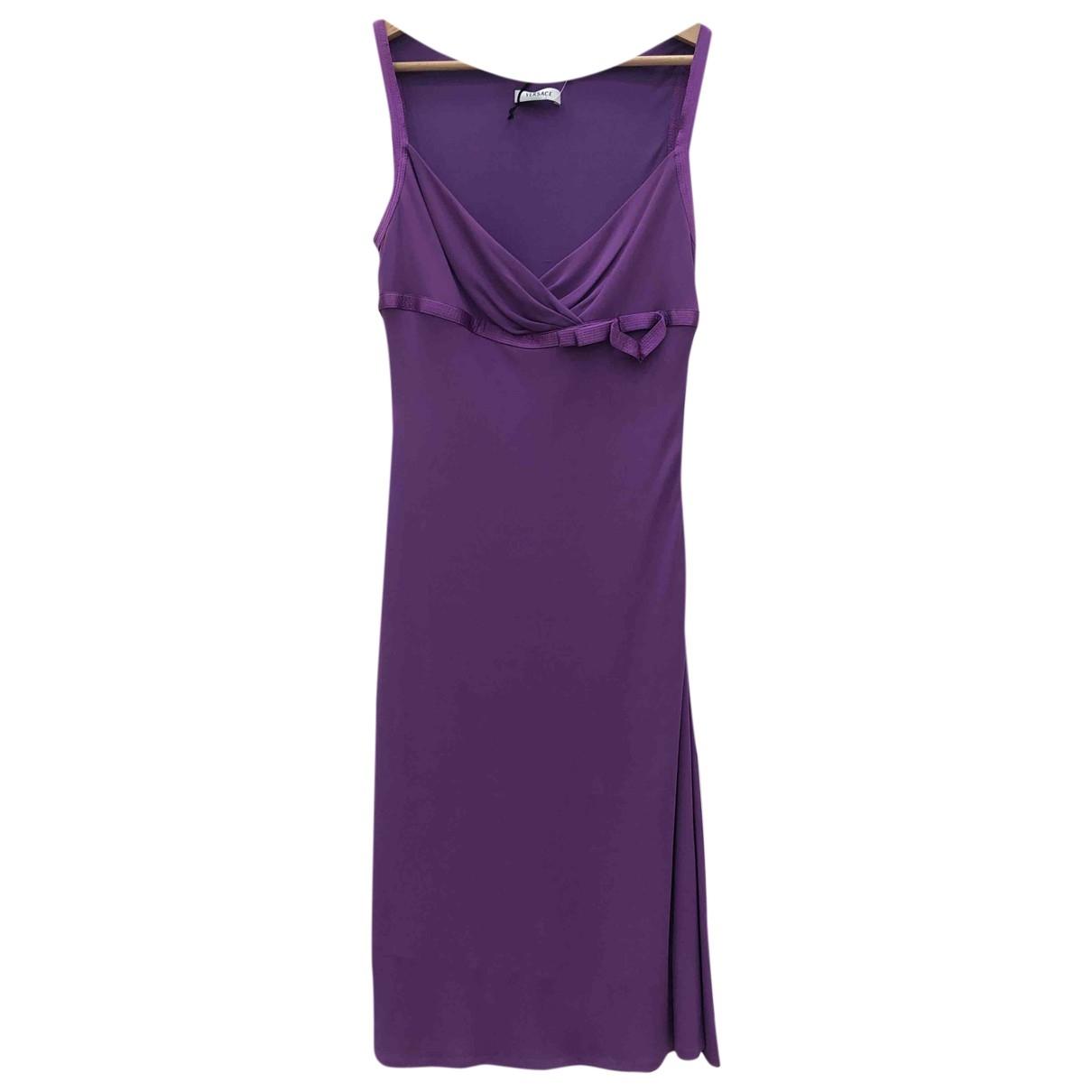 Versace \N Kleid in  Lila Viskose