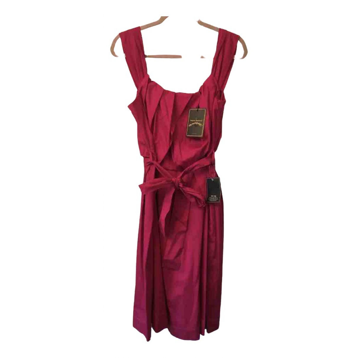 Vivienne Westwood Anglomania \N Pink Cotton dress for Women 46 IT