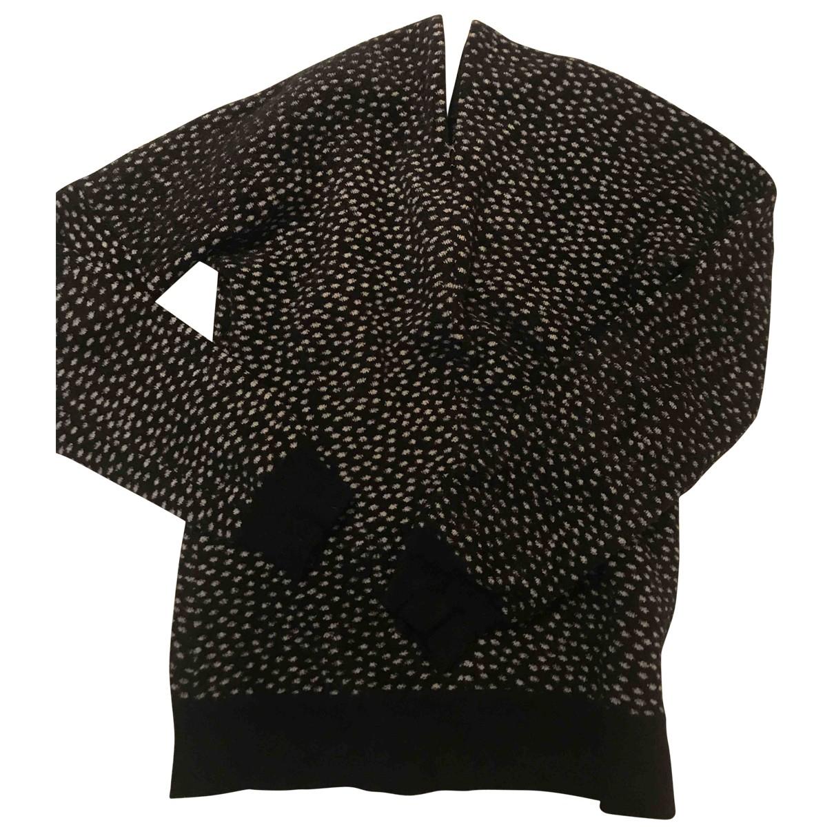 Mm6 - Pull   pour femme en laine - noir