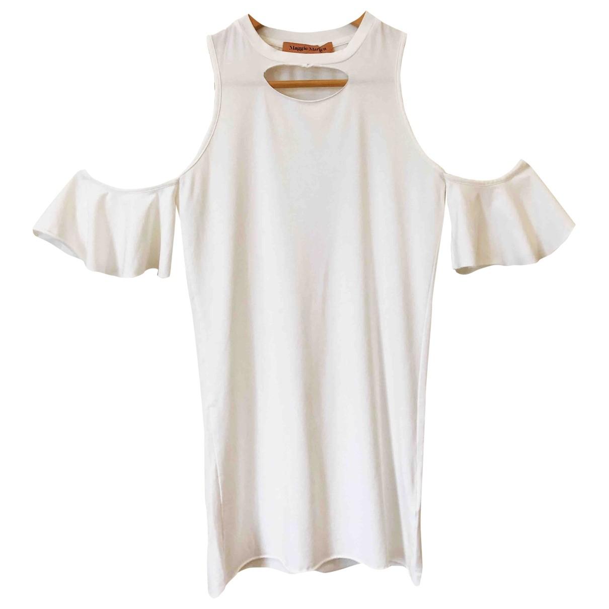 Maggie Marylin - Top   pour femme en coton - blanc