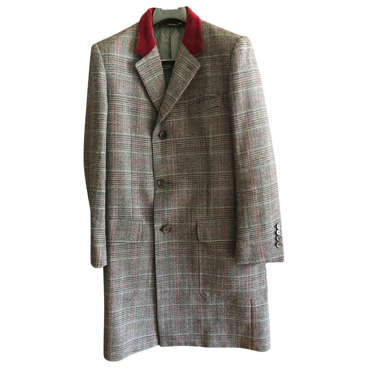 Dolce & Gabbana \N Maentel in  Grau Wolle