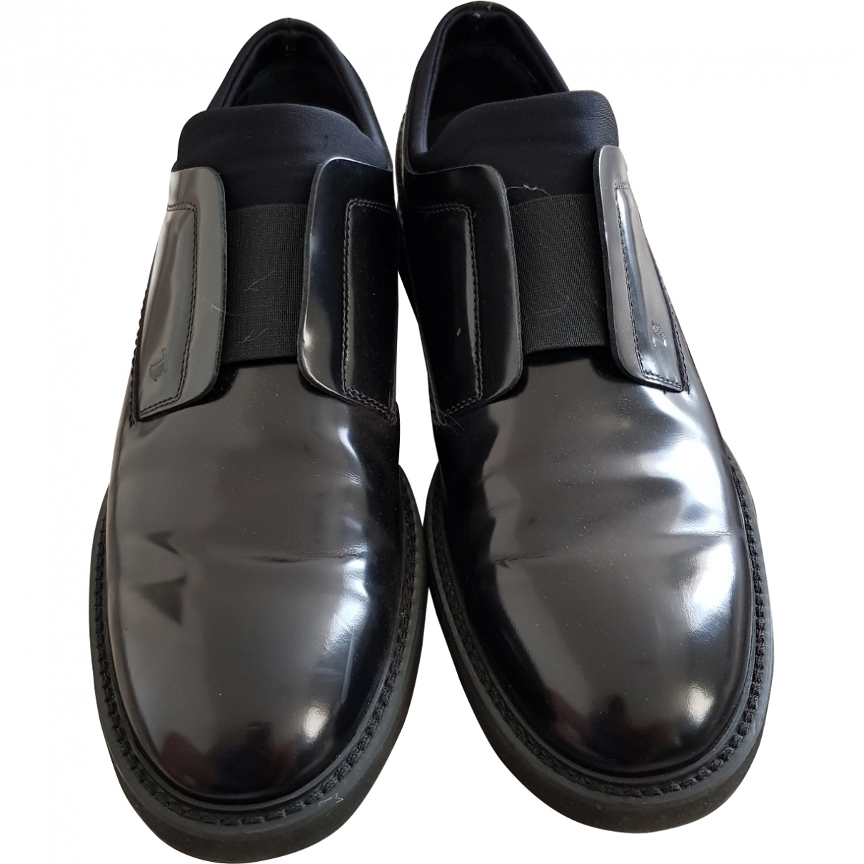 Tod's \N Black Patent leather Flats for Men 8.5 UK