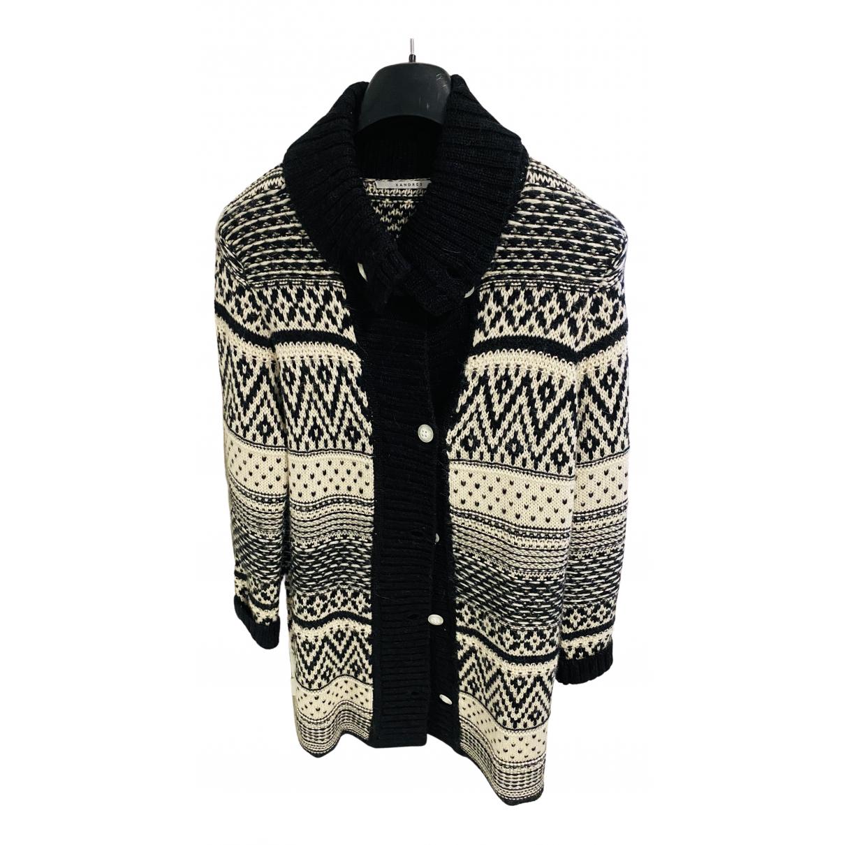 Xandres - Pull   pour femme en laine - noir