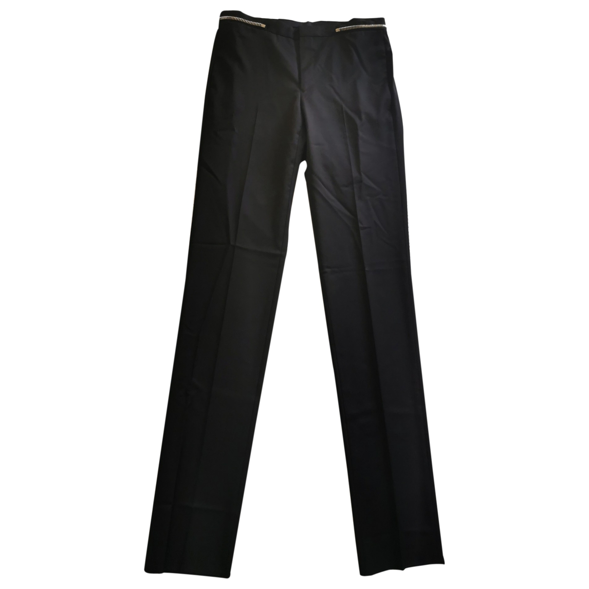 Givenchy \N Black Wool Trousers for Men 48 IT