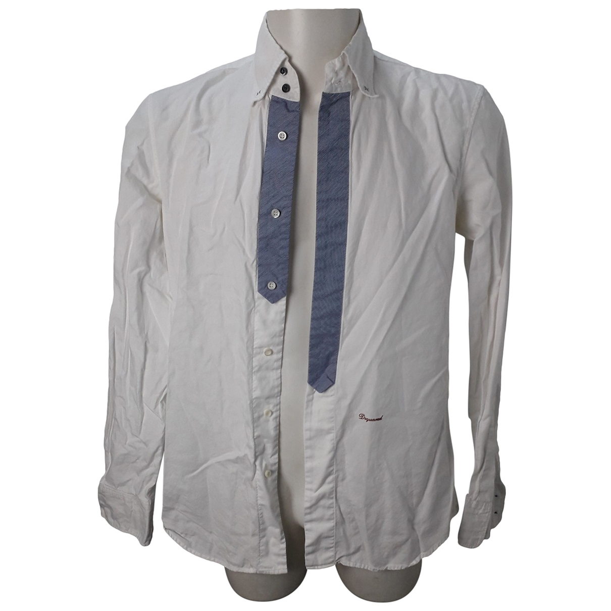 Dsquared2 \N White Cotton Shirts for Men L International