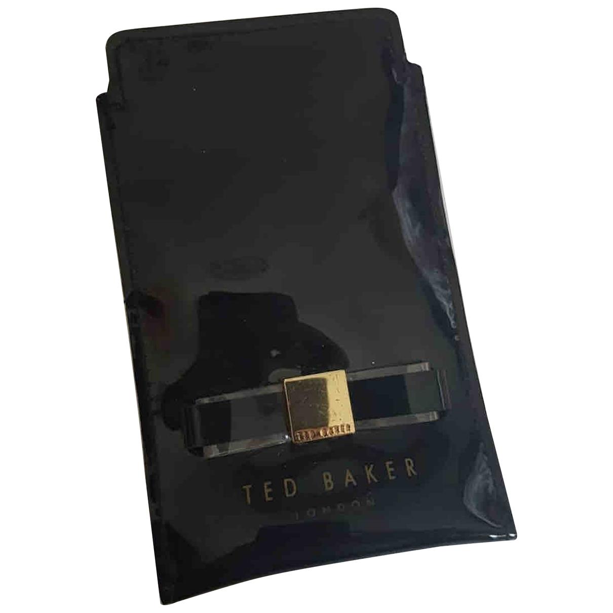 Ted Baker - Portefeuille   pour femme en cuir verni - noir