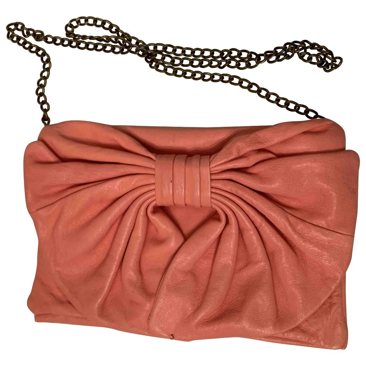 Red Valentino Garavani \N Pink Leather Clutch bag for Women \N