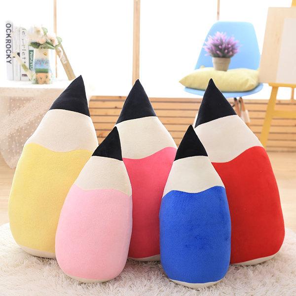 Creative Pencil Shape Pillow Cushions Colorful Kawaii Cartoon Plush Toy Novel Festival Gift