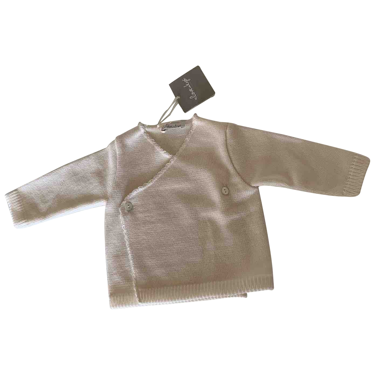 Non Signé / Unsigned \N White Wool Knitwear for Kids 1 months - up to 55cm FR