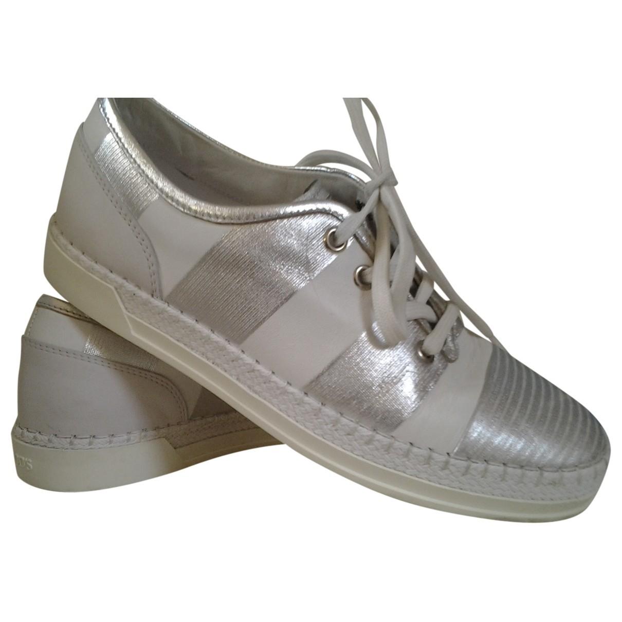Tods \N Sneakers in  Silber Leder