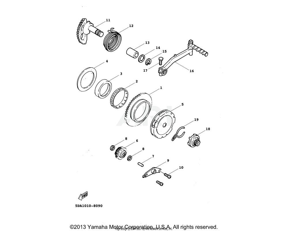 Yamaha OEM 3XG-E5532-00-00 PLATE, IDLE GEAR