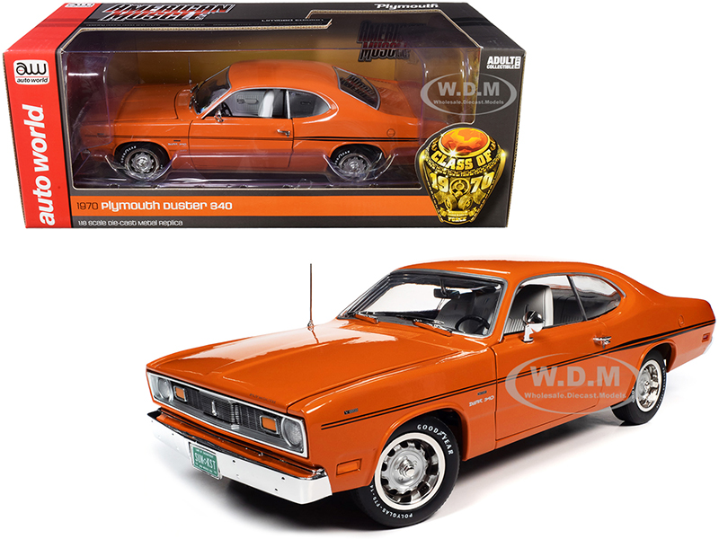 1970 Plymouth Duster 340 Two-Door Coupe EK2 Vitamin C Orange with Black Stripes and White Interior