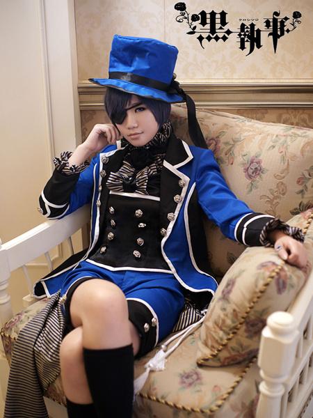 Milanoo Black Butler Kuroshitsuji Ciel Phantomhive Halloween Cosplay Costume Halloween