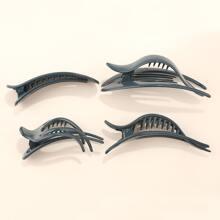 4 piezas set clip de pelo unicolor