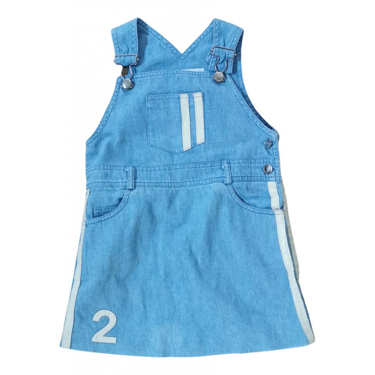 Dior - Robe    pour enfant en coton - bleu