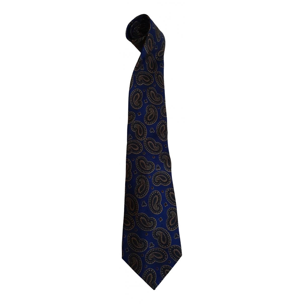 Christian Dior \N Krawatten in  Blau Seide
