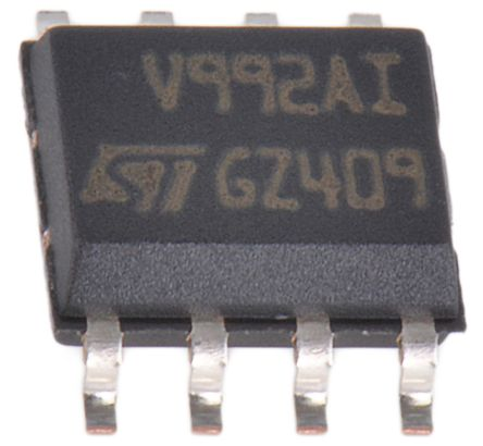 STMicroelectronics TSV992AIDT , Op Amp, RRIO, 20MHz, 2.5 → 5.5 V, 8-Pin SOIC (5)