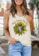 Sunflower Here Comes The Sun Tank - Light Yellow