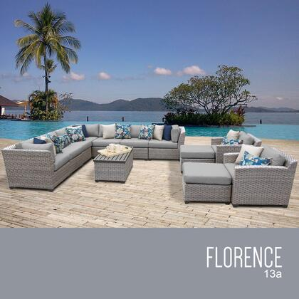 FLORENCE-13a Florence 13 Piece Outdoor Wicker Patio Furniture Set 13a with 1 Cover in
