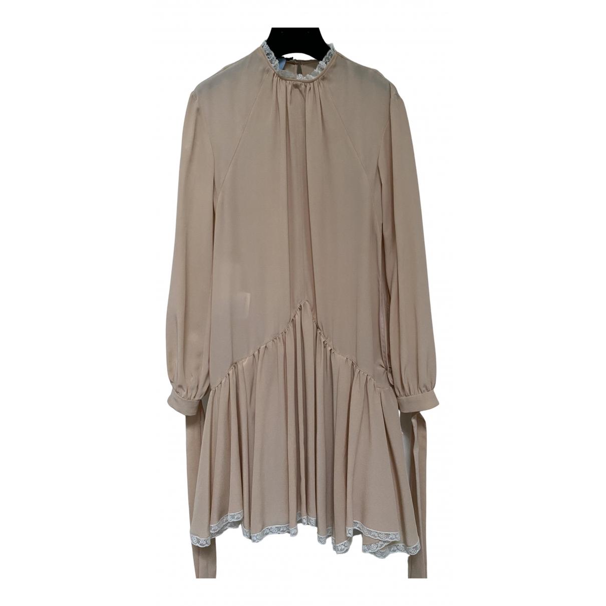 Prada \N Beige Silk dress for Women 38 IT