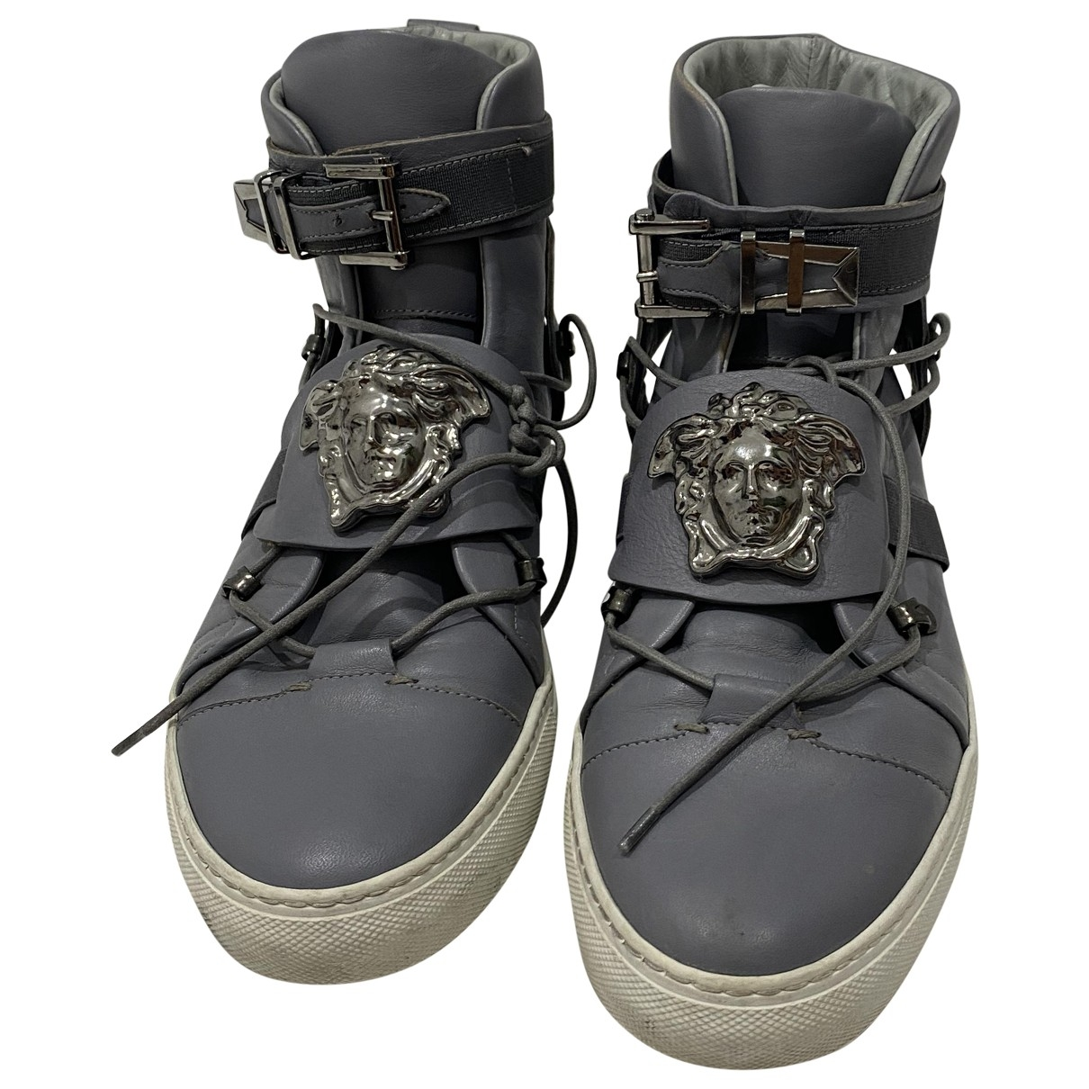 Versace \N Grey Leather Trainers for Men 42 EU